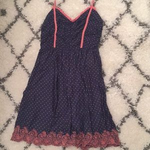 Guess dress size 5 Small navy dot dress